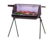 "Barbecue bois ""Nairobi"" - Grille rectangle : 51 x 25 cm"