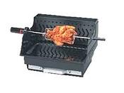 """Barbecue bois """"Assouan"""" à batir - grille rectangle : 45 x 33 cm"""