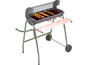 "Barbecue bois ""Managua"" - grille rectangle : 63x31 cm"