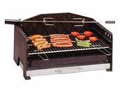 "Barbecue bois ""Alexandrie"" à batir - grille rectangle : 67 x 40 cm"