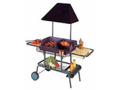 "Barbecue bois ""Le grilladin de luxe"" - grille rectangle : 70 x 42 cm"