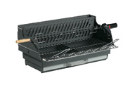 "Barbecue bois ""Louqsor"" - Grill rectangle - 65 x 34 cm"