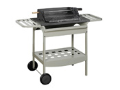 "Barbecue bois ""Madisson"" - Grill rectangle : 53 x 39 cm"