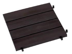 Dalles de jardin clipsables aspect bois foncé - 38.4 x 38.4 x 2 cm - Lot de 11