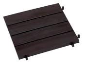 Dalles de jardin clipsables aspect bois foncé - 38.4 x 38.4 x 2.5 cm - Lot de 11