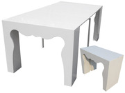 Table Repas  Extensible  Alicia  - 200x95x75 cm