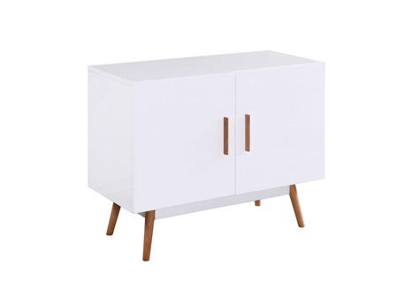 """Buffet """"Jessy"""" - 90 x 40 x 70 cm - Blanc laqué"""