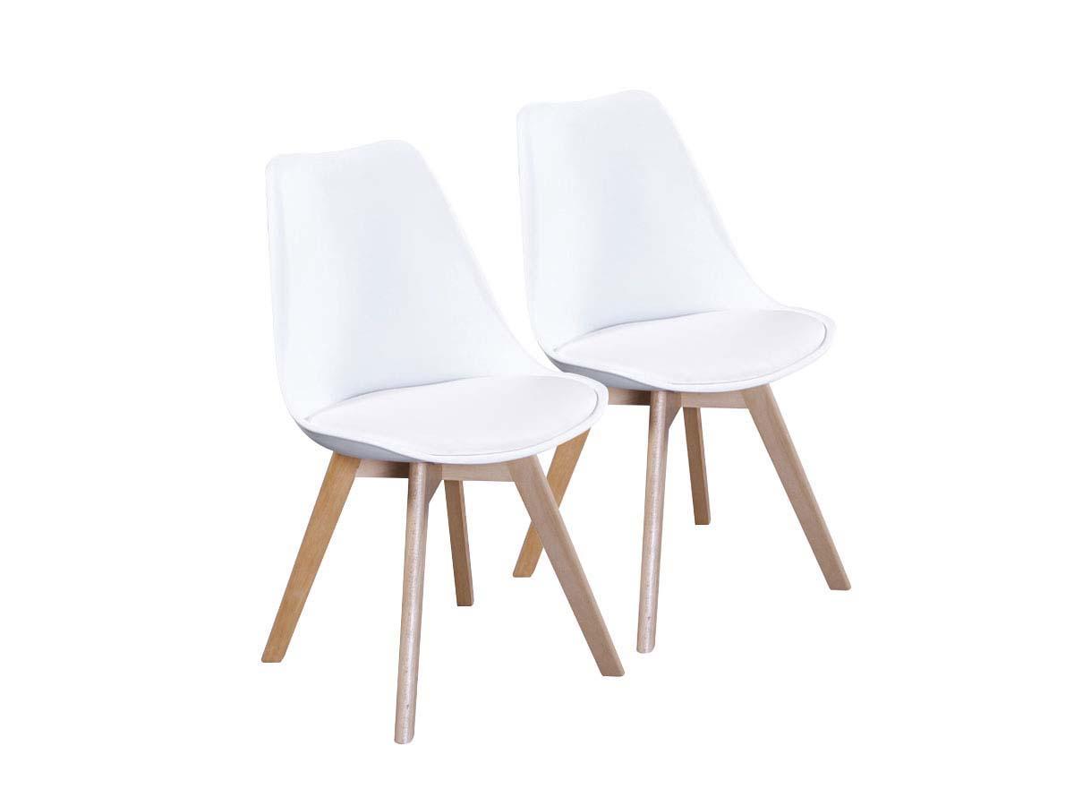 lot de 2 chaises emmy blanc 70111 70112. Black Bedroom Furniture Sets. Home Design Ideas