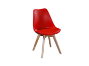 "Lot de 2 chaises ""Emmy"" rouge"