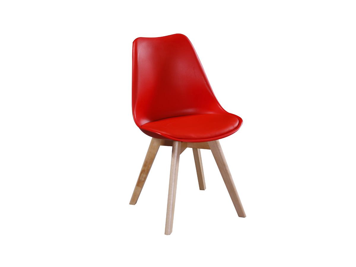 lot de 2 chaises emmy rouge 70111 70116. Black Bedroom Furniture Sets. Home Design Ideas