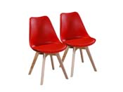 "Lot de 2 chaises ""Emmy"" - Rouge"