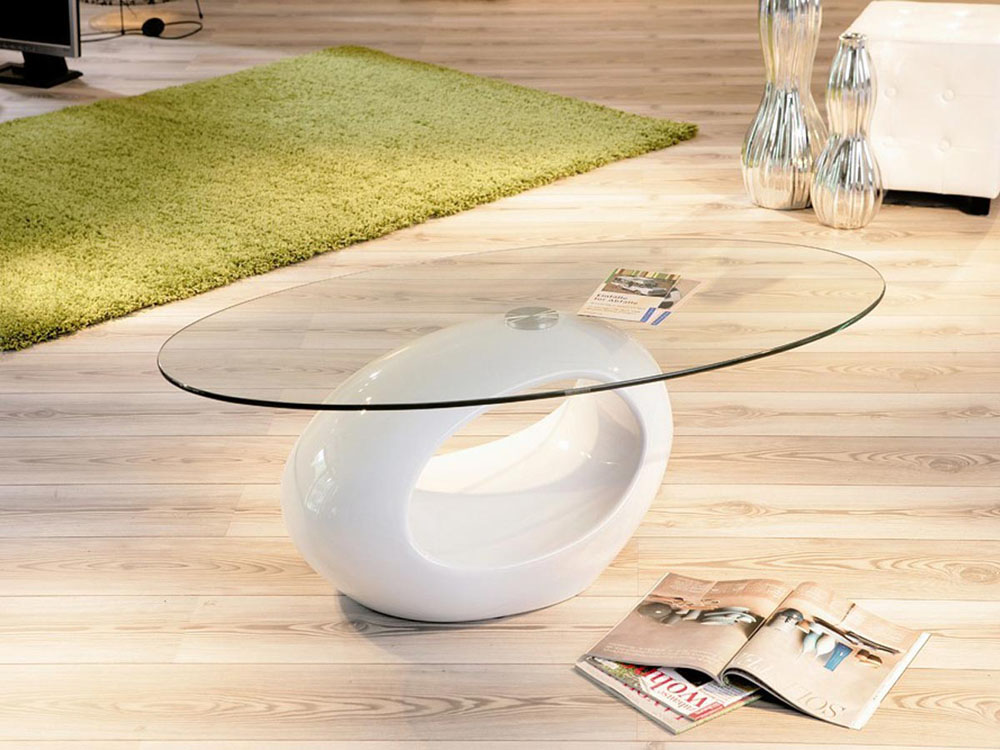 Table basse Jeny - 115 x 65 x 42,5 cm - Blanc