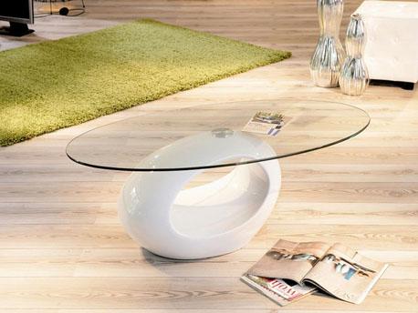 "Table basse ""Jeny"" - 115 x 65 x 42,5 cm - Blanc"