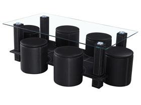 Table basse rectangulaire en verre