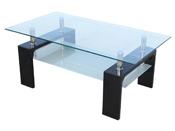 """Table basse """"Camillia""""  - structure en MDF laqué noir"""