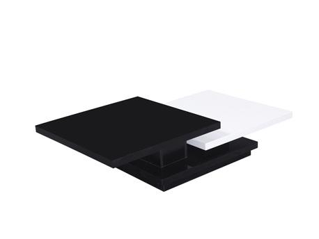 """Table basse """"Zen"""" en MDF laqué bicolore"""