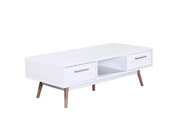 "Table basse ""Cody"" - 120 x 60 x 40 cm - Blanc"