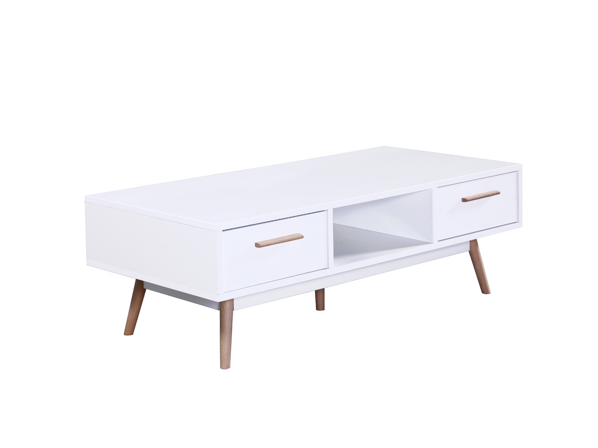 Table basse Cody - 120 x 60 x 40 cm - Blanc