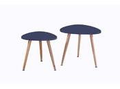 Lot de 2 tables basses Sunny - 48 x 48 x 43 cm - Gris