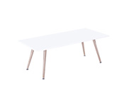 "Table basse ""Timmy"" - 110 x 50 x 40 cm - Blanc"