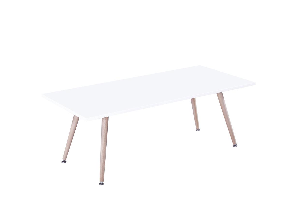 Table basse Timmy - 110 x 50 x 40 cm - Blanc
