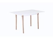 "Table repas ""Freddy"" - 120 x 80 x 75 cm - Blanc laqué"