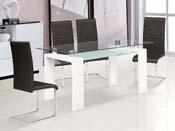 """Table repas """"Eva"""" - 150x80x75cm - Blanc"""