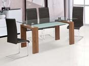 "Table repas ""Eva"" - 150x80x75cm - Marron"