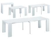 Table console extensible  Elsa  - 300/50 x 94 x 75 cm - Blanc