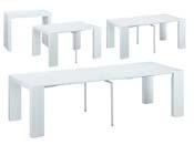 """Table console extensible """"Elsa"""" - 300/50 x 94 x 75 cm - Blanc"""