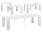 "Table repas extensible ""Elsa"" - 50/300 x 94 x 75 cm - Blanc"