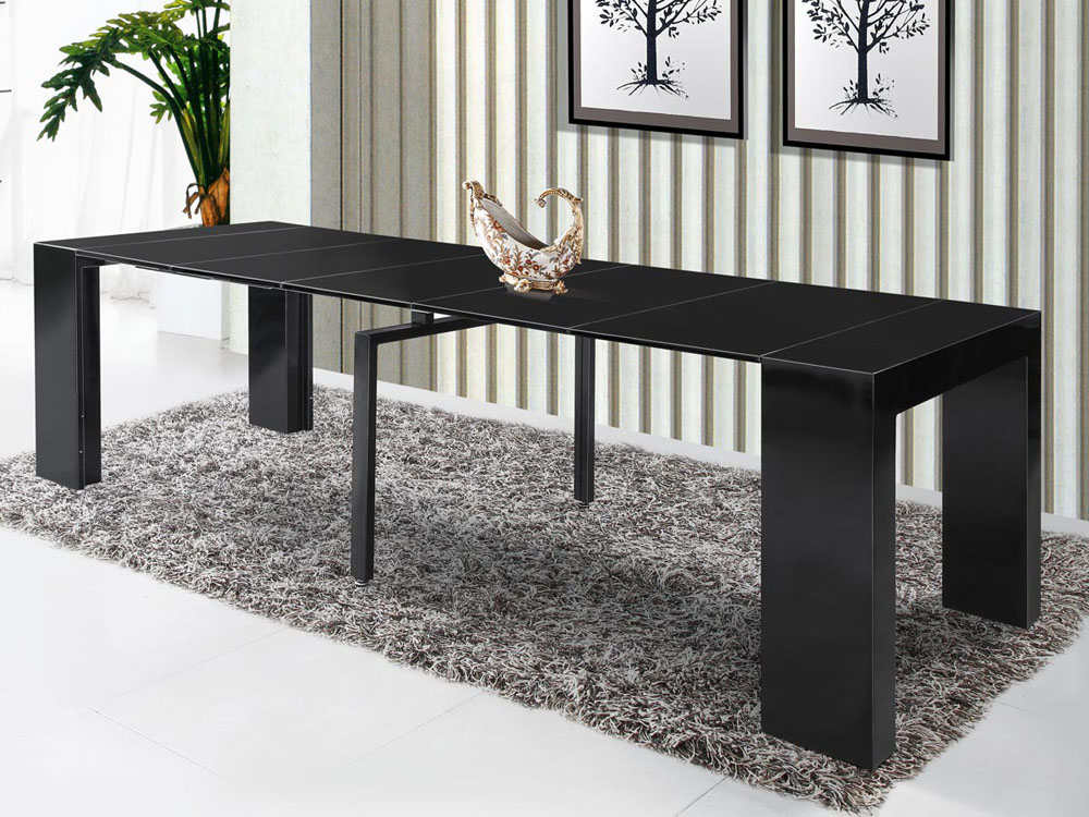 Table console extensible elsa 300 50 x 94 x 75 cm for Table extensible 350 cm
