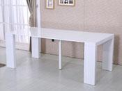 "Table repas extensible ""Dina"" - 200/40 x 94 x 75 cm - Blanc laqué"