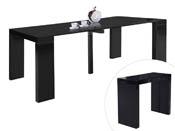 """Table repas extensible """"Dina"""" - 200/40 x 94 x 75 cm -  Noir laqué"""