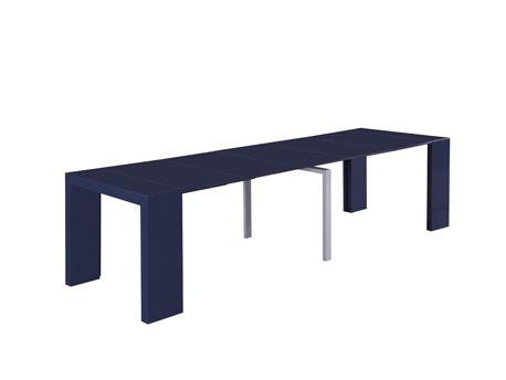 """Table console extensible """"Elsa"""" - 300/50 x 94 x 75 cm - Gris"""