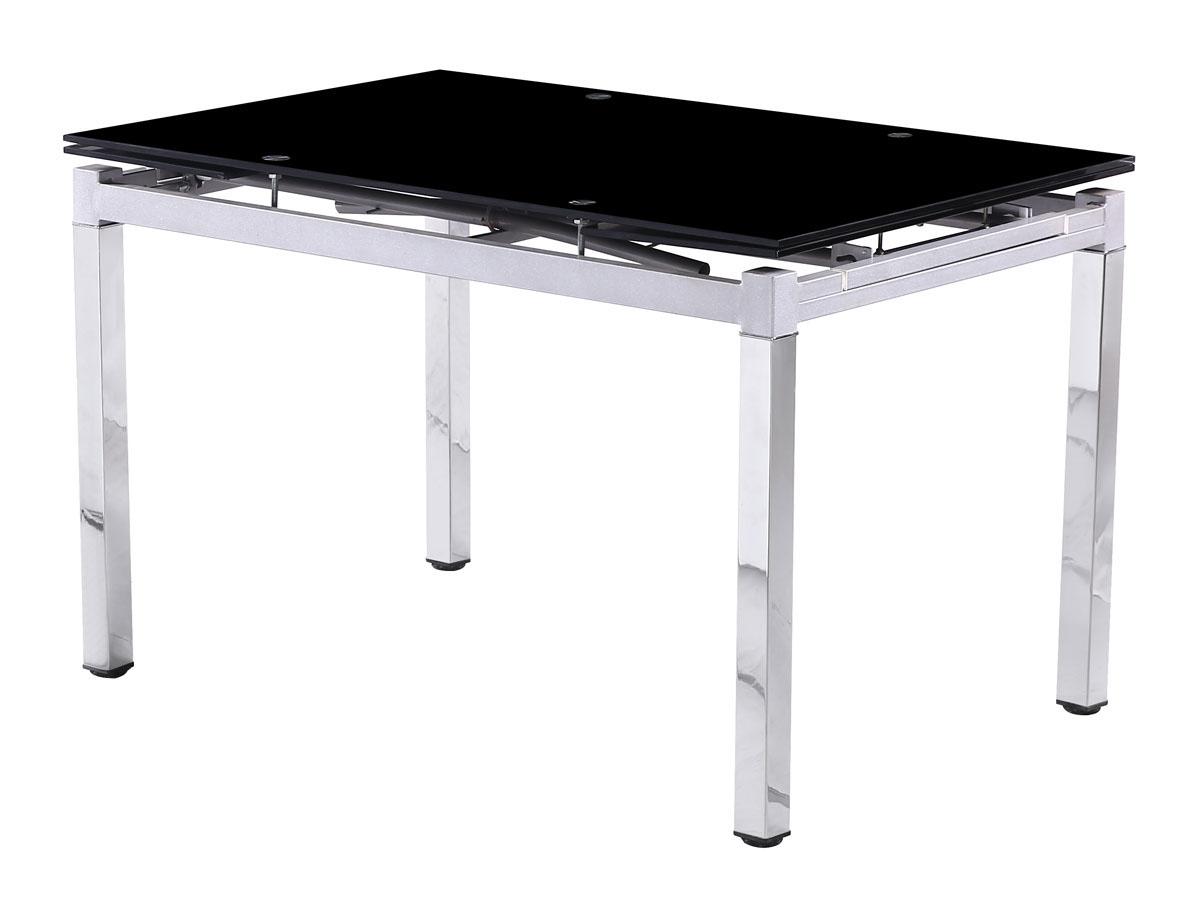 table repas extensible sterna en verre 120 180 x 80 x 75 cm ebay. Black Bedroom Furniture Sets. Home Design Ideas