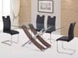 """Table repas """"Diva"""" en verre - 165 x 90 x 76 cm - Coloris chêne"""