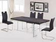 "Table repas ""Vivia"" - 200 x 100 x 75 cm - Coloris taupe"