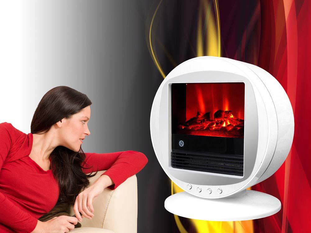 chemin e lectrique fire bowl blanche 1000 w ou 2000 w. Black Bedroom Furniture Sets. Home Design Ideas