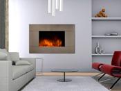 """Cheminée électrique design """"Pure inox""""- Color Style - 1000 W ou 2000 W"""