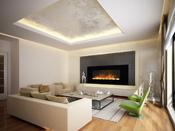 """Cheminée décorative design """"Volcano XXL""""- Color Style - 2000 W"""