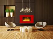 """Cheminée électrique décorative """"Red line""""- Color Style - 1000 W ou 2000 W"""