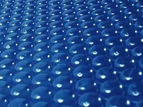 Bâche à bulles pour piscine Florida - 400 µ - avec un côté bordé