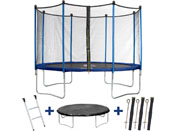 "Trampoline "" Happy "" - Ø 3.65 m m - avec filet + échelle + couverture + kit d"