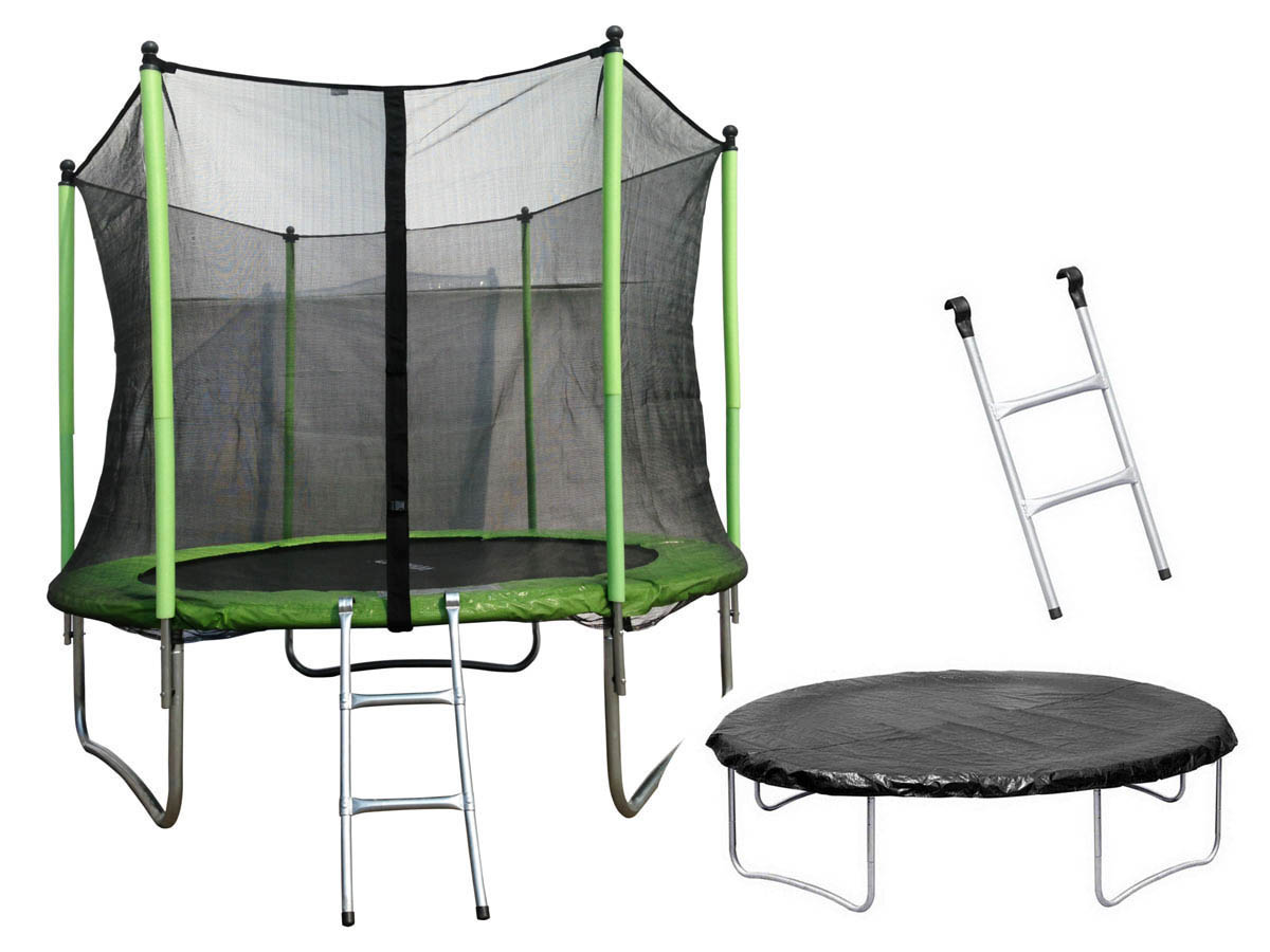 trampoline yoopi m avec filet chelle couverture 61547. Black Bedroom Furniture Sets. Home Design Ideas