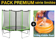 "Trampoline "" Yoopi "" - Ø 2.44 m  + Piscine enfant - filet compris"