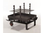"Barbecue bois ""Feu roulant junior Classic"" - grille rectangle 57.5 x 39.5 cm"
