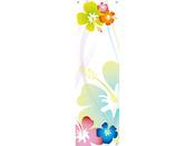 """Toile décorative extérieure """"Hibiscus 1"""" 0,60 x 1m"""