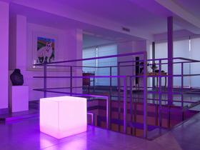 Cube lumineux multicolore autonome 40 cm.