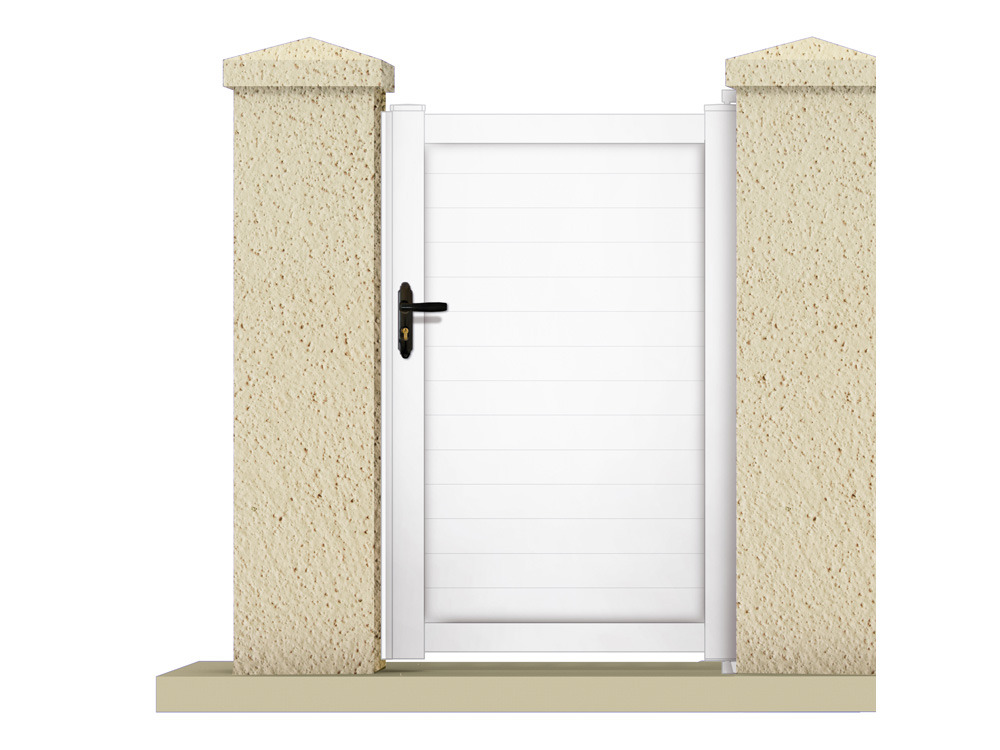 Portillon atlas m pvc coloris blanc 63207 for Portillon de jardin pvc